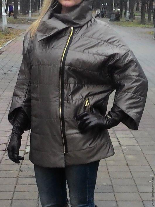 """Верхняя одежда ручной работы. Ярмарка Мастеров - ручная работа. Купить Стеганая куртка """"Бронза"""". Handmade. Хаки, куртка теплая"""