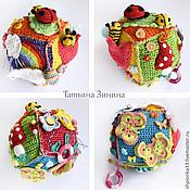"""Куклы и игрушки ручной работы. Ярмарка Мастеров - ручная работа Развивающий кубик 21 """"На лесной полянке"""". Handmade."""