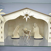 Куклы и игрушки handmade. Livemaster - original item Nativity scene (large) - wooden set of 22 items. Handmade.