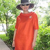 """Одежда ручной работы. Ярмарка Мастеров - ручная работа Летнее платье лён с шёлком """"Коралл"""". Handmade."""