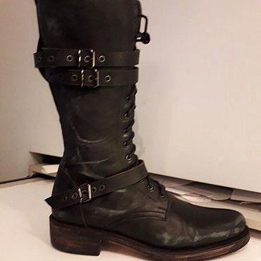 Обувь ручной работы. Ярмарка Мастеров - ручная работа Сапоги: Сапоги мужские модель под старинные винтаж. Handmade.