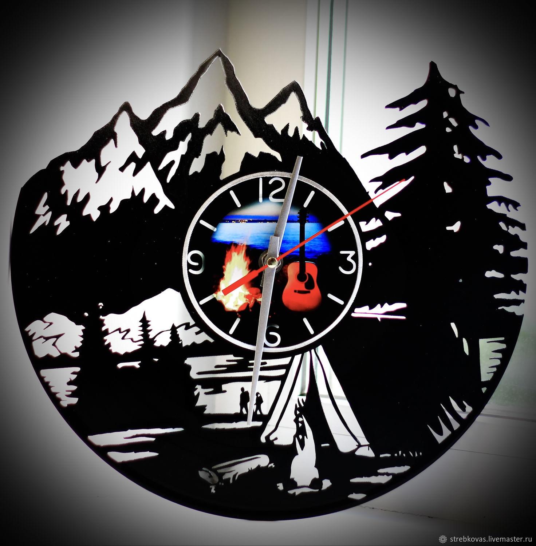 """Wall clock """"underwater hunting"""", Vinyl Clocks, Krasnoyarsk,  Фото №1"""