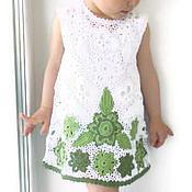 Работы для детей, handmade. Livemaster - original item Cotton dress for girl Summer is hot, Hello))). Handmade.