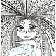 """Футболки, майки ручной работы. Заказать Футболка с принтом """"Душа"""" (авторский рисунок). Виктория (tvorchestvo-art). Ярмарка Мастеров."""