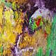 Абстракция ручной работы. Заказать Абстрактная живопись. Marvelous.. Анна. Ярмарка Мастеров. Зеленый, цветы, Живопись, акрил
