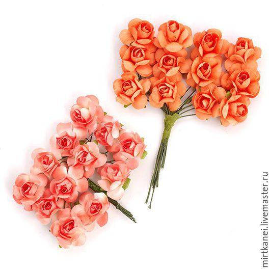 Открытки и скрапбукинг ручной работы. Ярмарка Мастеров - ручная работа. Купить Цветы бумажные. Розы. Handmade. Комбинированный, цветы для скрапбукинга