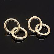 Материалы для творчества handmade. Livemaster - original item Earrings studs 12*22 mm gold plated th. Korea (4571). Handmade.