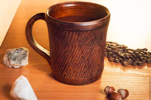 Кружки и чашки ручной работы. Ярмарка Мастеров - ручная работа. Купить Кружка. Handmade. Коричневый, керамика ручной работы, кружка