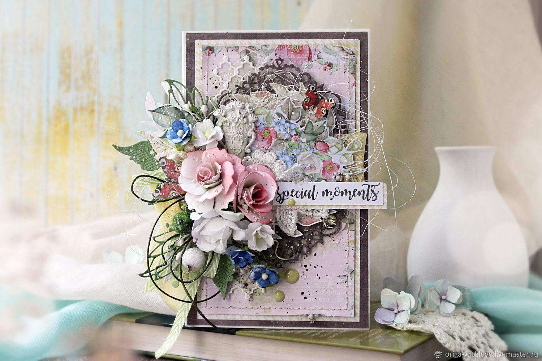 Флористические открытки ручной, днем