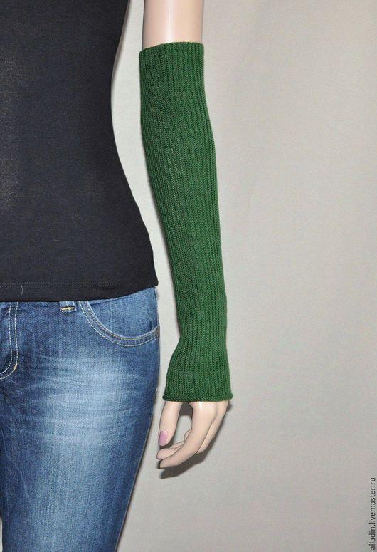 Варежки, митенки, перчатки ручной работы. Ярмарка Мастеров - ручная работа. Купить Рукава Green (вискоза-stretch). Handmade.