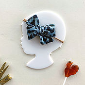 Работы для детей, handmade. Livemaster - original item Child meditates, wearing Velvet bow Leopard. Handmade.