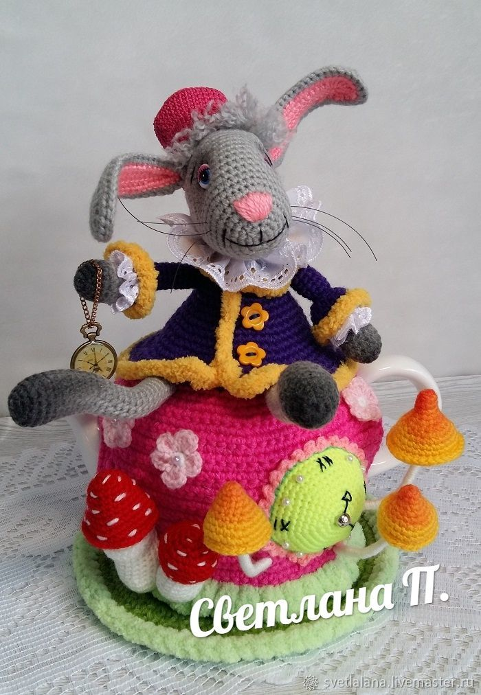 Kitchen handmade. Livemaster - handmade. Buy Warmer for teapot 'Mad tea party'.Crochet, knitting to order