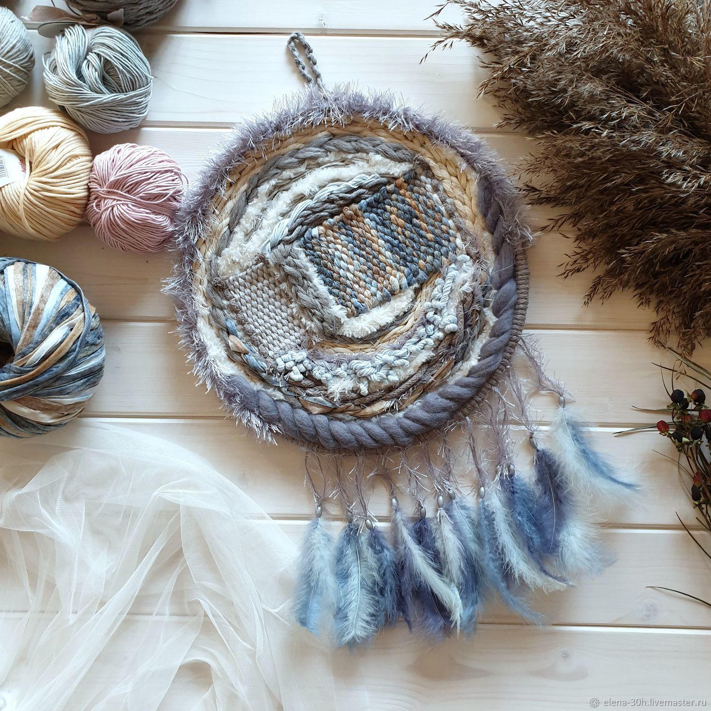 Medium woven grey and beige dream catcher, Tapestry, Yaroslavl,  Фото №1