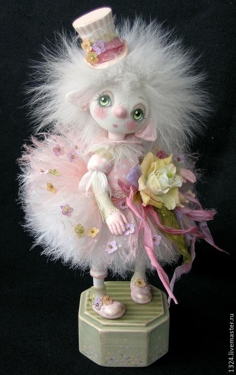 Коллекционные куклы ручной работы. Ярмарка Мастеров - ручная работа. Купить кукла Розочка полимерная глина. Handmade. Розовый, Паперклей