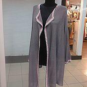 Одежда ручной работы. Ярмарка Мастеров - ручная работа кардиган бохо оверсайз серого цвета. Handmade.