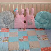 Для дома и интерьера ручной работы. Ярмарка Мастеров - ручная работа Бортики  в детскую кроватку, улитка. Handmade.