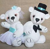 Куклы и игрушки ручной работы. Ярмарка Мастеров - ручная работа Мишки в свадебных нарядах. Handmade.