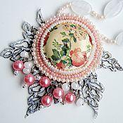 Украшения ручной работы. Ярмарка Мастеров - ручная работа украшение с бисерной вышивкой. Handmade.