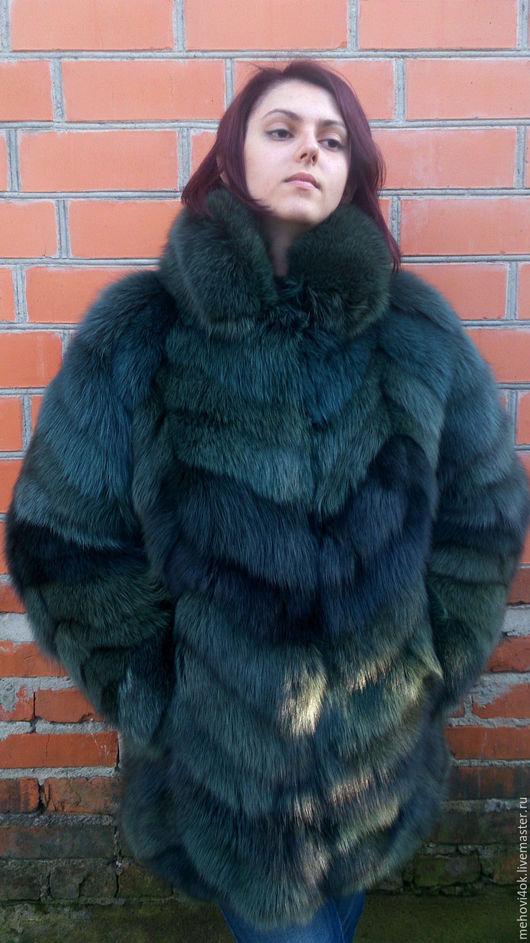 """Верхняя одежда ручной работы. Ярмарка Мастеров - ручная работа. Купить Женская меховая шуба """"Изумруд"""", купить шубу, шубка из меха. Handmade."""