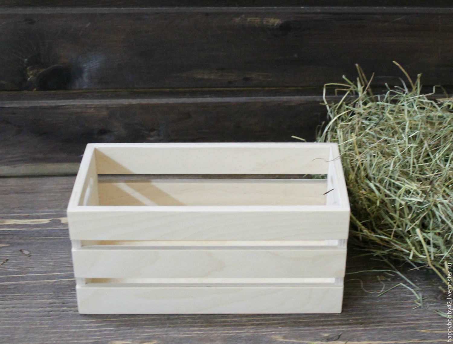 Wooden box with handles 23/11/11 cm, Blanks for decoupage and painting, Kemerovo,  Фото №1