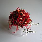 Цветы и флористика ручной работы. Ярмарка Мастеров - ручная работа Украшение на торт (букет из конфет). Handmade.