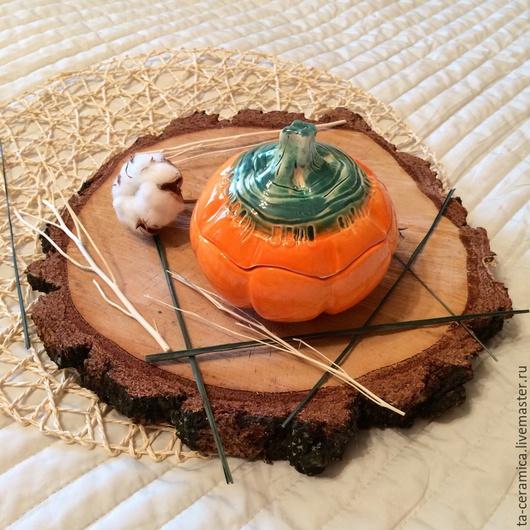 Шкатулки ручной работы. Ярмарка Мастеров - ручная работа. Купить Керамическая тыква. Handmade. Керамика, глина