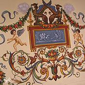 Дизайн и реклама ручной работы. Ярмарка Мастеров - ручная работа Роспись стен. Handmade.