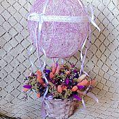 """Цветы и флористика ручной работы. Ярмарка Мастеров - ручная работа Цветочная композиция """"Воздушный шар"""". Handmade."""