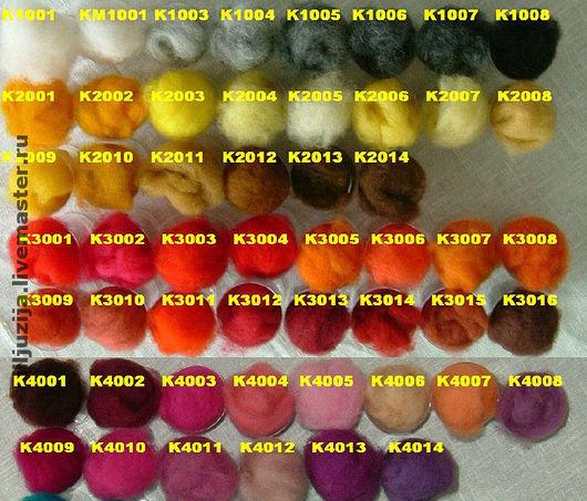 Валяние ручной работы. Ярмарка Мастеров - ручная работа. Купить Кардочёс новозеландский ( крашенная шерсть)латвийский Новая Зеландия. Handmade.