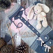 Работы для детей, ручной работы. Ярмарка Мастеров - ручная работа Комплект розово-серый градиент. Handmade.