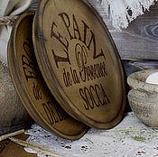 Для дома и интерьера ручной работы. Ярмарка Мастеров - ручная работа Набор деревянных тарелок для хлеба и сыра. Handmade.