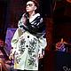 """Верхняя одежда ручной работы. Ярмарка Мастеров - ручная работа. Купить Пальто с вышивкой """"Зебровые орхидеи"""". Handmade. Бежевый"""