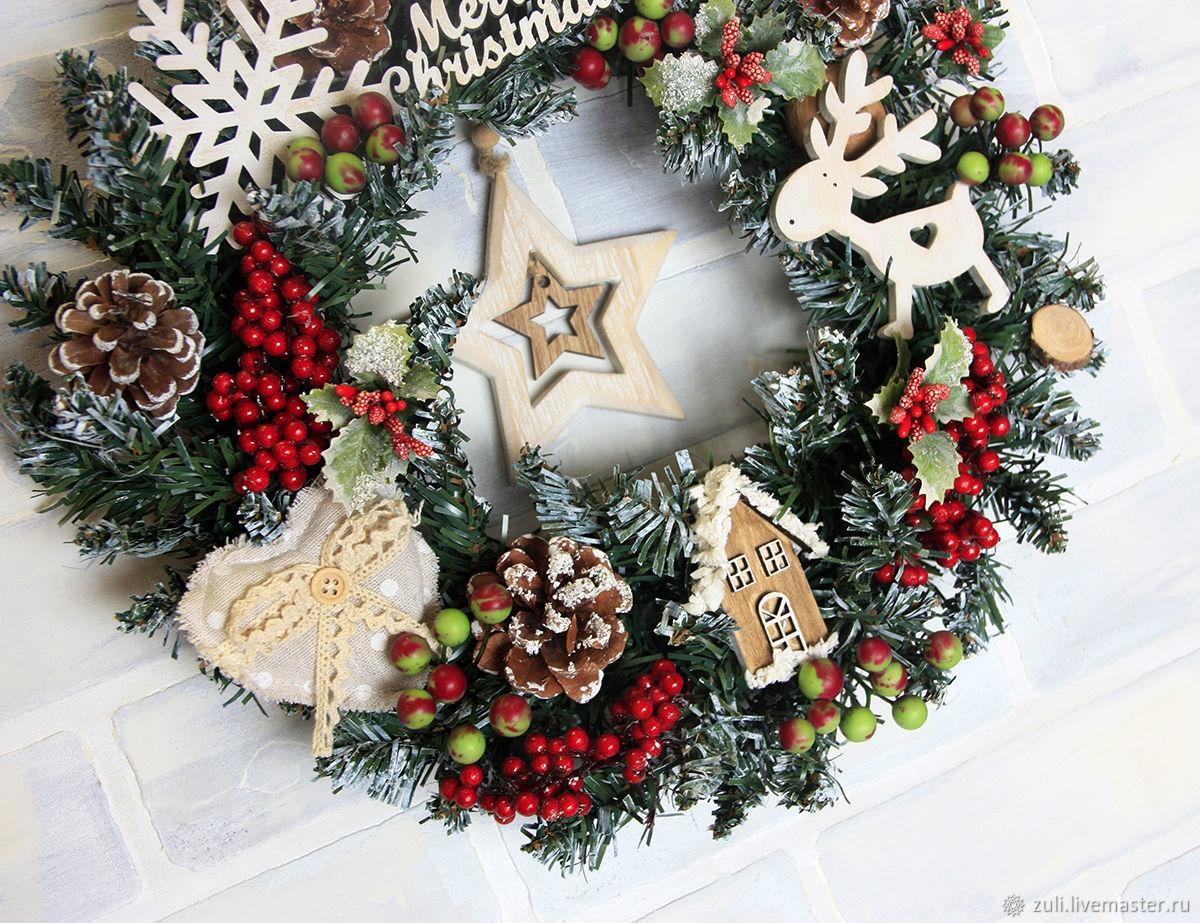 """Новый год: Рождественский венок """"Европейский"""", Интерьерные венки, Подольск,  Фото №1"""