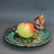 Посуда handmade. Livemaster - original item hut on chicken legs. A fabulous platter.. Handmade.