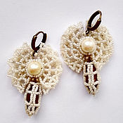 handmade. Livemaster - original item Folk decorations: Olonets butterfly earrings. Handmade.