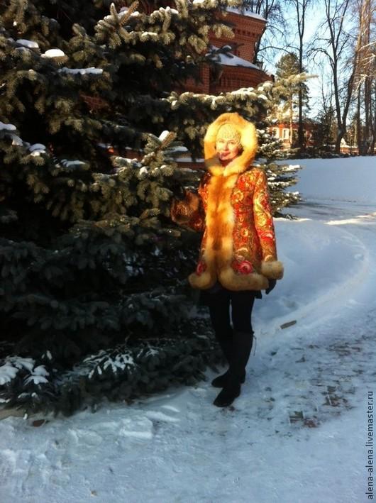 """Верхняя одежда ручной работы. Ярмарка Мастеров - ручная работа. Купить Зимнее пальто """" Василиса"""". Handmade. Цветочный"""