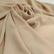 Материалы для творчества handmade. Livemaster - original item Fabric: Natural matte silk-cream brulee, warm beige. Handmade.