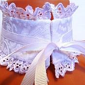 Аксессуары handmade. Livemaster - original item Accessories set / Jacquard white. Handmade.