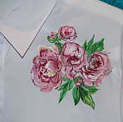 Одежда handmade. Livemaster - original item Blouse with painting