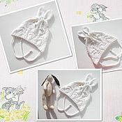 Работы для детей, ручной работы. Ярмарка Мастеров - ручная работа Шапка Зайчонок. Handmade.