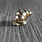 Figurines handmade. Livemaster - original item Stone carving pyrite Snail Ulya, natural stone. Handmade.