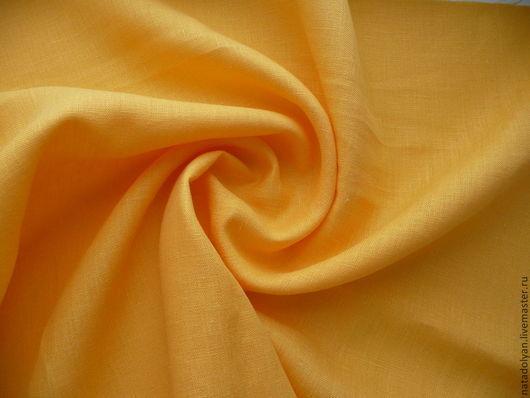 """Шитье ручной работы. Ярмарка Мастеров - ручная работа. Купить Лен костюмный  100% """"Желток"""". Handmade. Желтый, натуральный лен"""