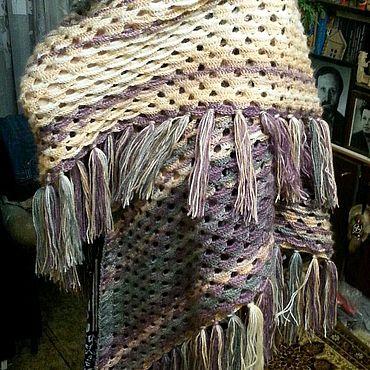 Одежда ручной работы. Ярмарка Мастеров - ручная работа Шаль вязаная. Handmade.