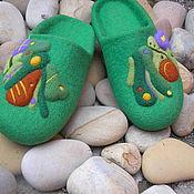 """Обувь ручной работы. Ярмарка Мастеров - ручная работа Валяные тапочки """" Тёплый май"""". Handmade."""