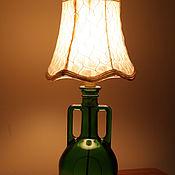 Для дома и интерьера ручной работы. Ярмарка Мастеров - ручная работа Настольная лампа из бутылки. Handmade.