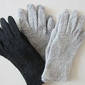 Аксессуары ручной работы. Ярмарка Мастеров - ручная работа Мужские шерстяные перчатки-теплые валяные однотонные  варежки перчатки. Handmade.
