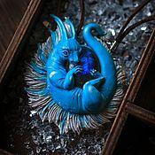 Украшения handmade. Livemaster - original item Pendant with turquoise dragon