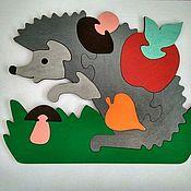 Мягкие игрушки ручной работы. Ярмарка Мастеров - ручная работа Пазл Ежик. Handmade.