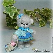 Куклы и игрушки ручной работы. Ярмарка Мастеров - ручная работа Мишка в бирюзовом. Handmade.