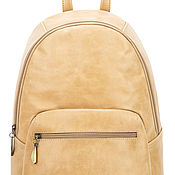 Сумки и аксессуары handmade. Livemaster - original item Leather backpack Violetta (ivory). Handmade.
